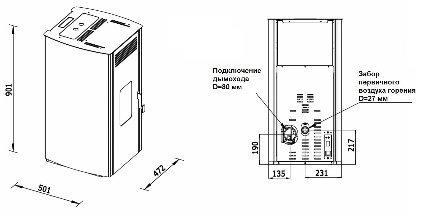 Габариты LAMINOX ADA AIR 6: 472x501x901 мм, вес: 84 kg
